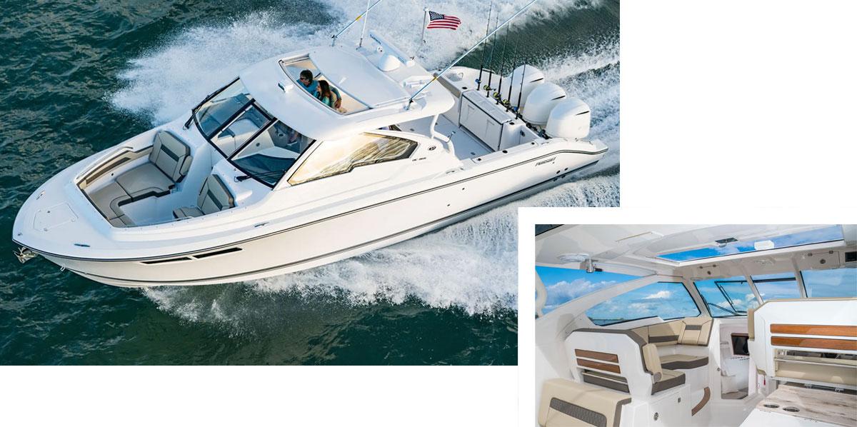 Pursuit Boats Dual console.