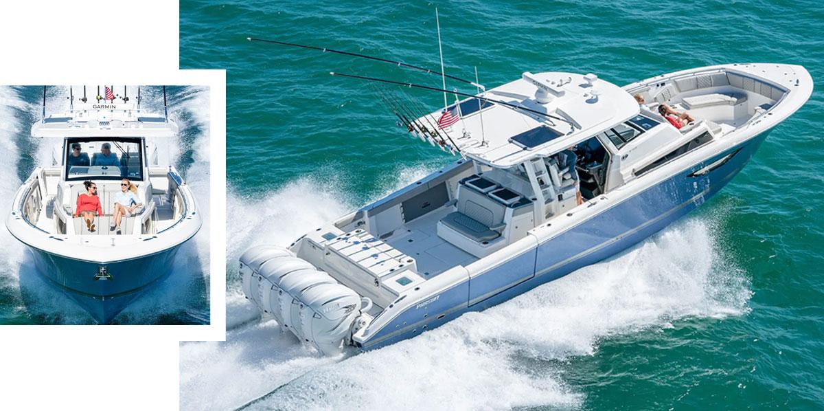 Pursuit Boats Sport Series.